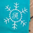 Snowflake Monogram Frame Embroidery Design