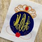 Snow White Applique Monogram Frame