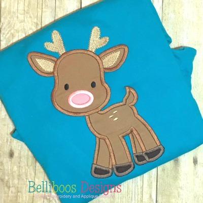 deer applique, reindeer applique, deer embroidery, applique design, embroidery design, Christmas Applique, Christmas Embroidery