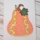 Tall Pumpkin Applique