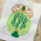 Frog Princess Applique Monogram Frame