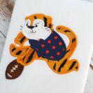 Tiger Football Applique