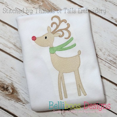 reindeer embroidery - winter embroidery - christmas embroidery - holiday embroidery - woodland embroidery - embroidery design - machine embroidery - deer embroidery