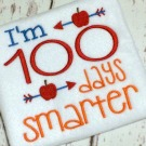 100 Days Embroidery Saying