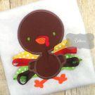 3D Ribbon Turkey Applique