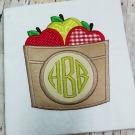 Basket of Apples Monogram Applique