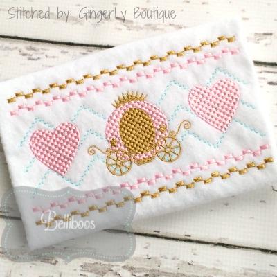 Belliboos Designs Princess Carriage Faux Smocking Embroidery Design