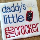 Daddy's Firecracker Applique Design