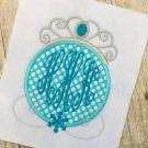 Snow Princess Applique Monogram Frame