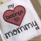 Heart Belongs to Mommy Applique