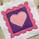 Heart Stamp Applique
