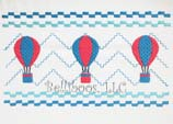 Hot Air Balloon Faux Smocking Embroidery Design