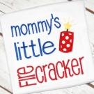 Mommy's Firecracker Applique Design