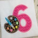Paint Pallet Applique Number Set