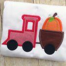 Pumpkin Train Applique