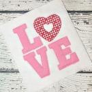 Love Raggy Bean Applique Design
