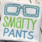 Smarty Pants Applique