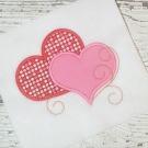 Swirl Hearts Applique Design