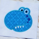 Dino Face Applique
