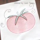 Tomato Vintage Line Art