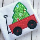 Tree in Wagon Applique