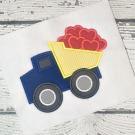 Valentine Dump Truck Applique Design